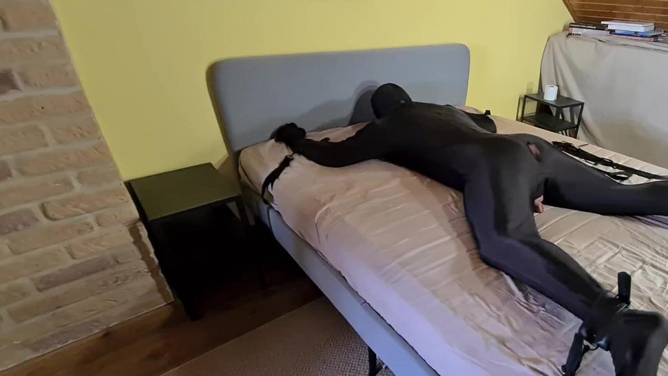 Tied Up Slave Whipped & Humiliated By Cruel Leather Femdom Mistress