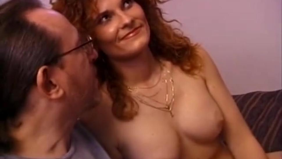 Vintage milf masturbates before fucking dick
