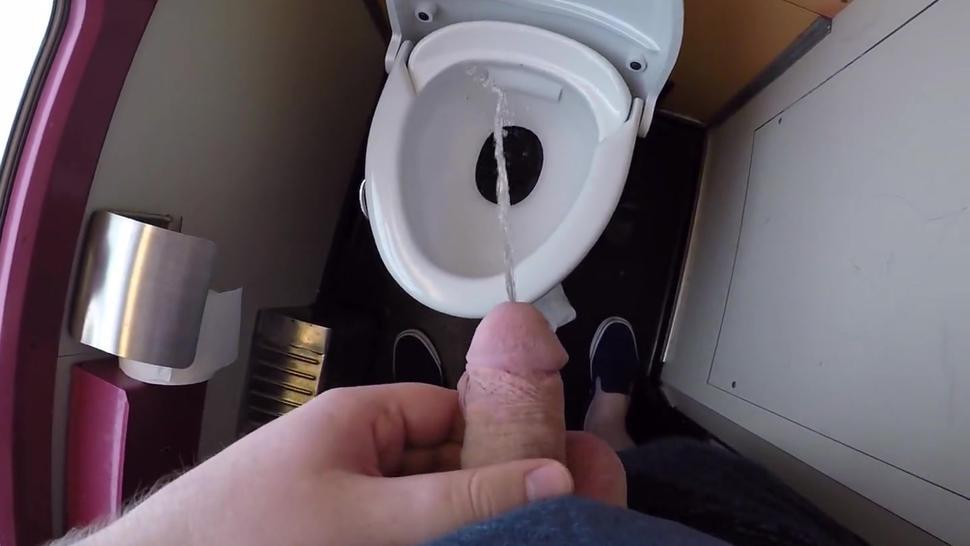 Oops, I missed... Naughty Pissing in Train Toilets Part 2