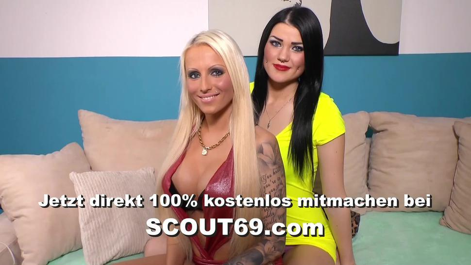 SCOUT69 - Guy Caught Real German Amateur Lesbian and Seduce to 3Some