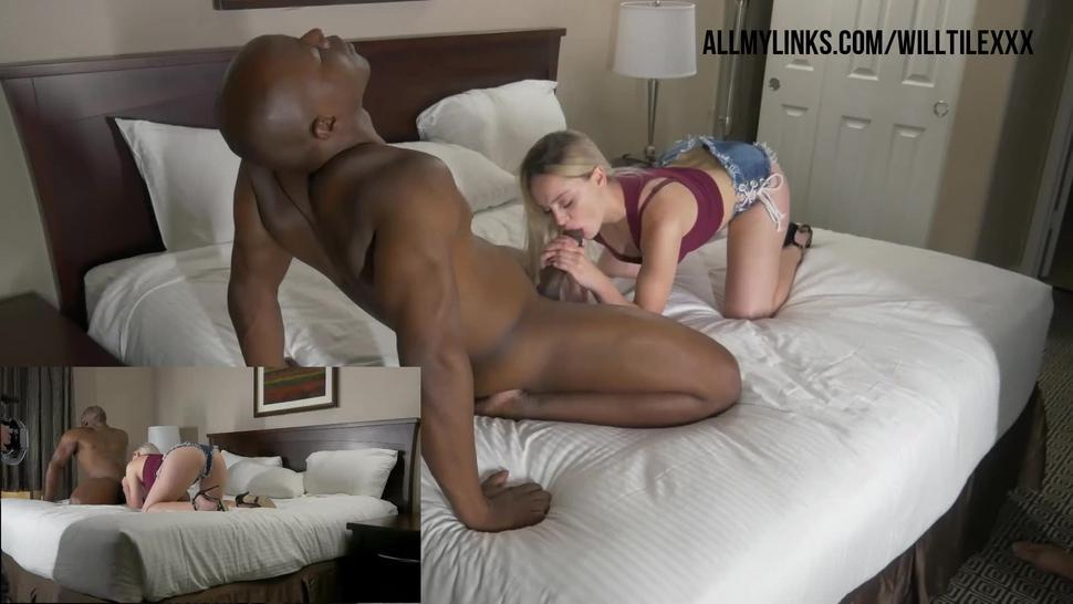 Hd/blonde/a cock on takes time