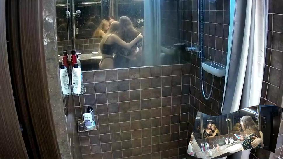 Fetish/blonde/together 2 voyeur shower