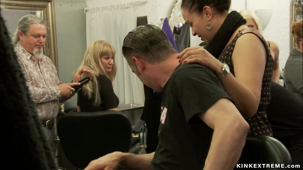 Big ass Latina fucked at hairdressers