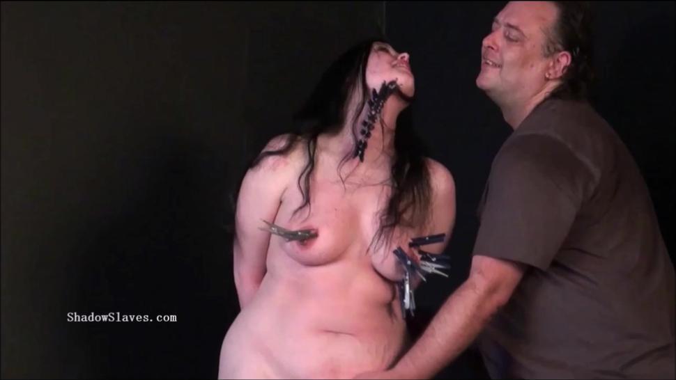 Pegged Bbw Slave Emmas Humiliating Punishment And Curvy Painslut Whipping Of Dominated Amateur Bdsm Masochist Trained And Enslav