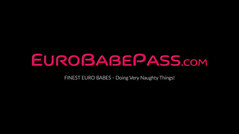 EURO BABE PASS - Slow and passionate pussy play with Euro babe Kata D