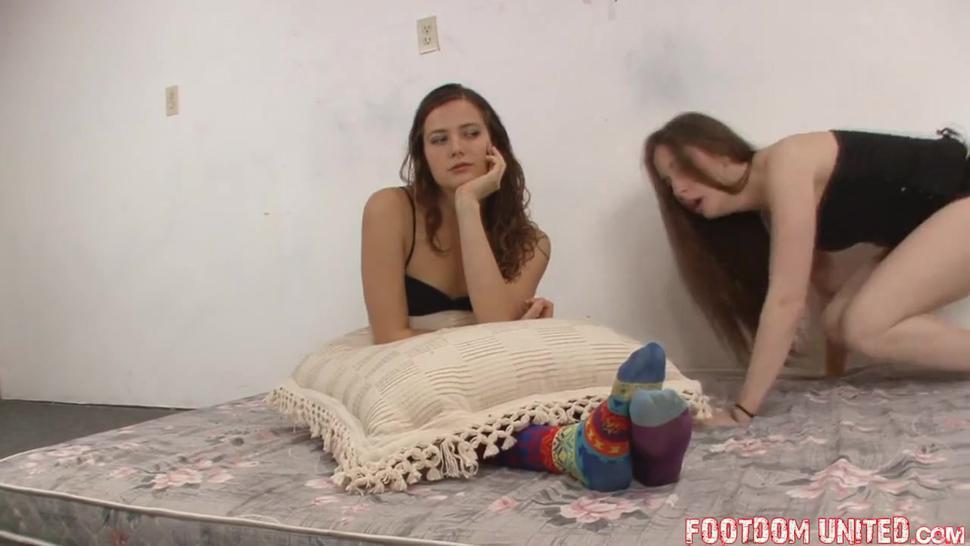 Mistress socks with sweaty feet worship