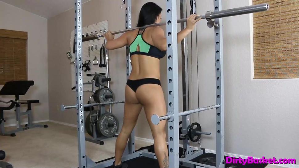 Brunette babes have a hot lesbian workout