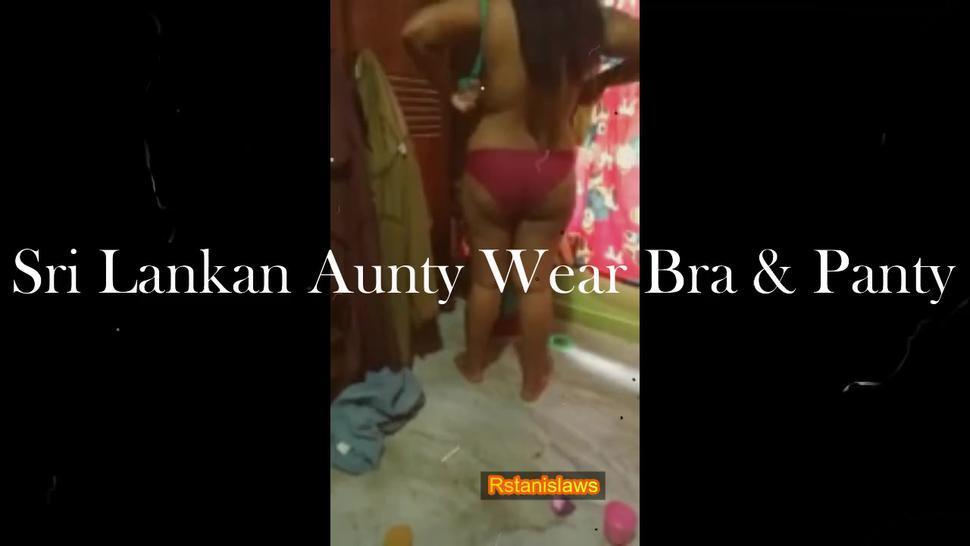 sri lankan aunty wear bra & panty