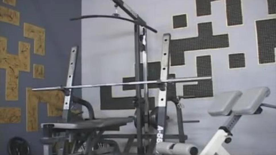 Busty Naked Chick At The Gym