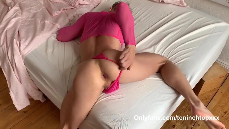 Monster Dick Daddy Raw Fucks Slutty Twink In Pink!