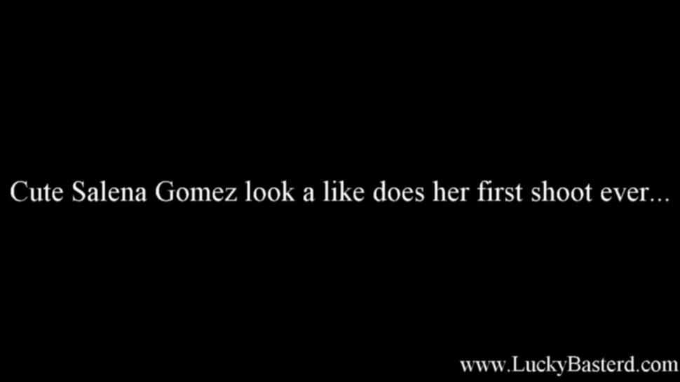 Cutel Salena Gomez look a like made her first Porn Video with LuckyBasterd