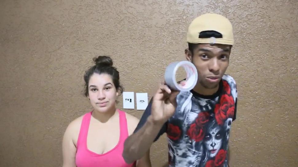 Rock Paper Scissors Tape Challenge Headscissor