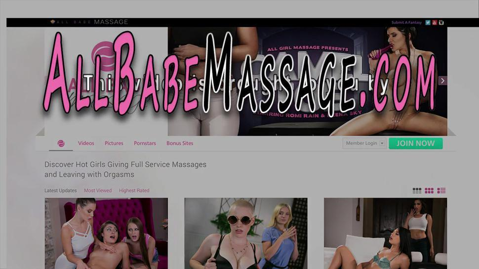 ALL GIRL MASSAGE - Lesbian masseuse in 69 eats out pussy