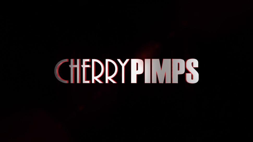 CHERRY PIMPS - Ebony and White Lesbian Sluts Licking Each Other Pussies