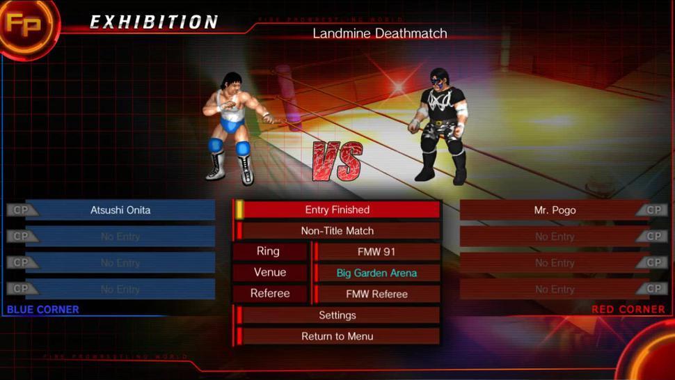 Fire Pro Wrestling World - Gyaku Male Ryona Hardcore Landmine Barbed Wire Deathmatch - Atsushi Onita vs Mr. Pogo