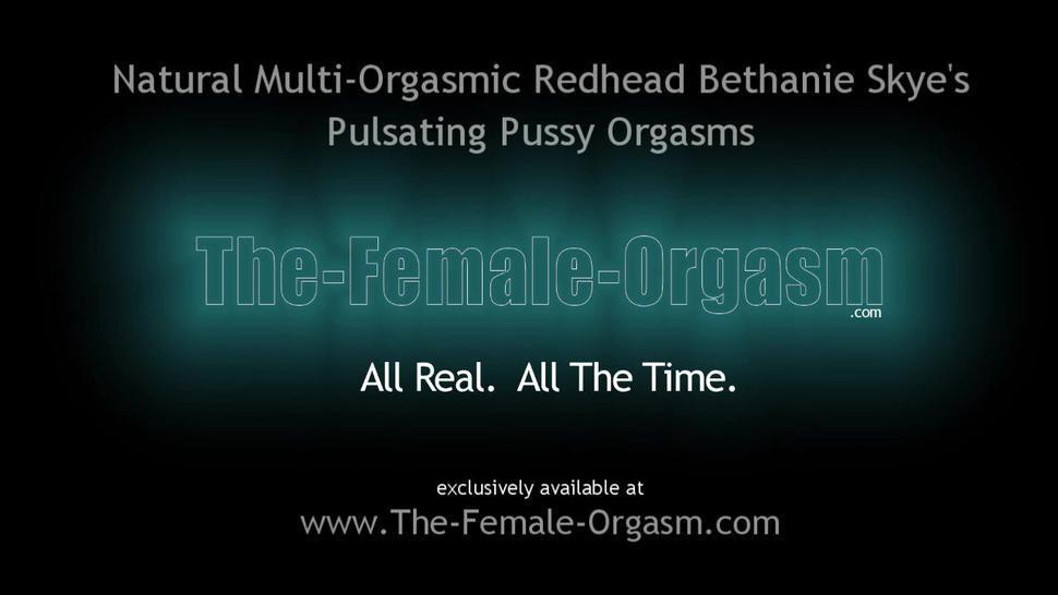 Hot Natural Hairy Redhead Masturbates Solo to Multiple Orgasms