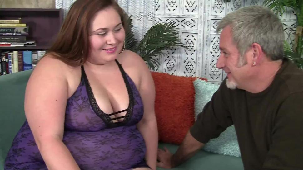 Big boobed BBW in her first porn movie
