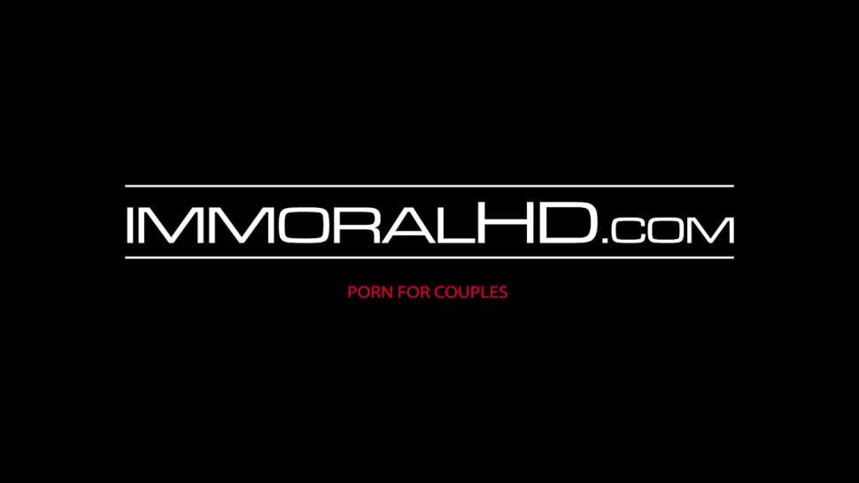 IMMORAL HD - Inked lesbian has her fingers deep inside her girlfriend