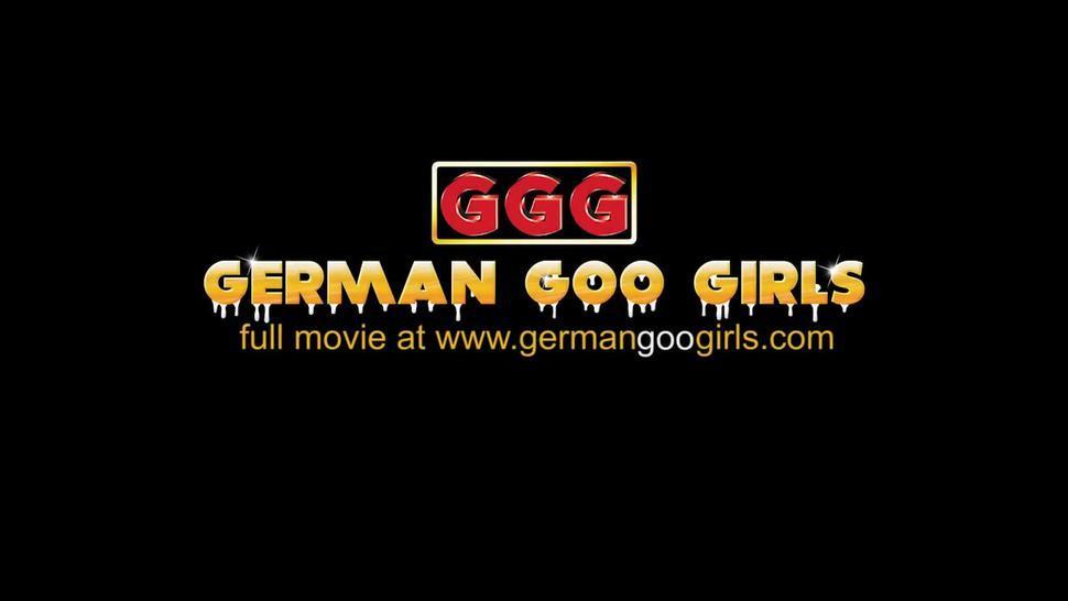 Bukkake time with sexy petite Aymie - German Goo Girls
