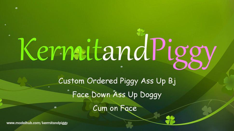 Blowjob/piggy doggy cum up down ass