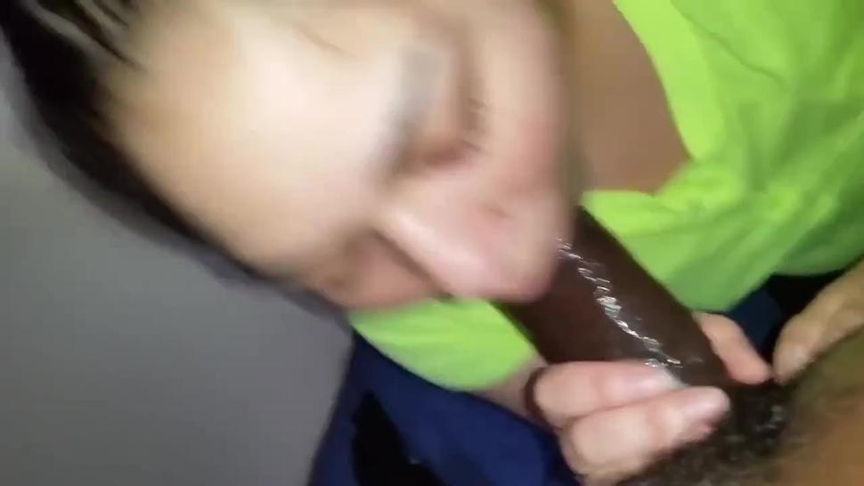 HomeMade Interracial POV of Latina giving Salivating Deepthroat to BBC for 2 Minutes