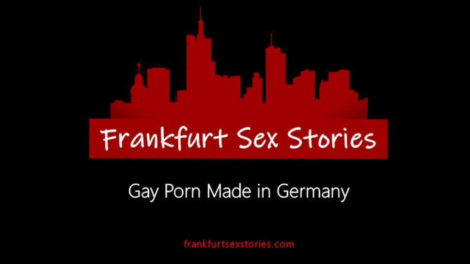 German hunks use sex addicted gay in the toilet