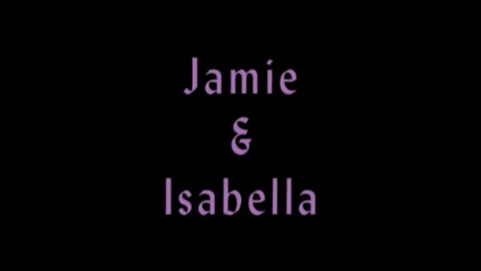 Jamie&Isabella tied naked on couch