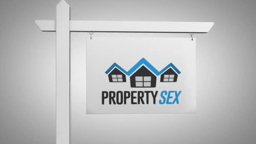 Bewitching real estate agent seduces house-owner on sex