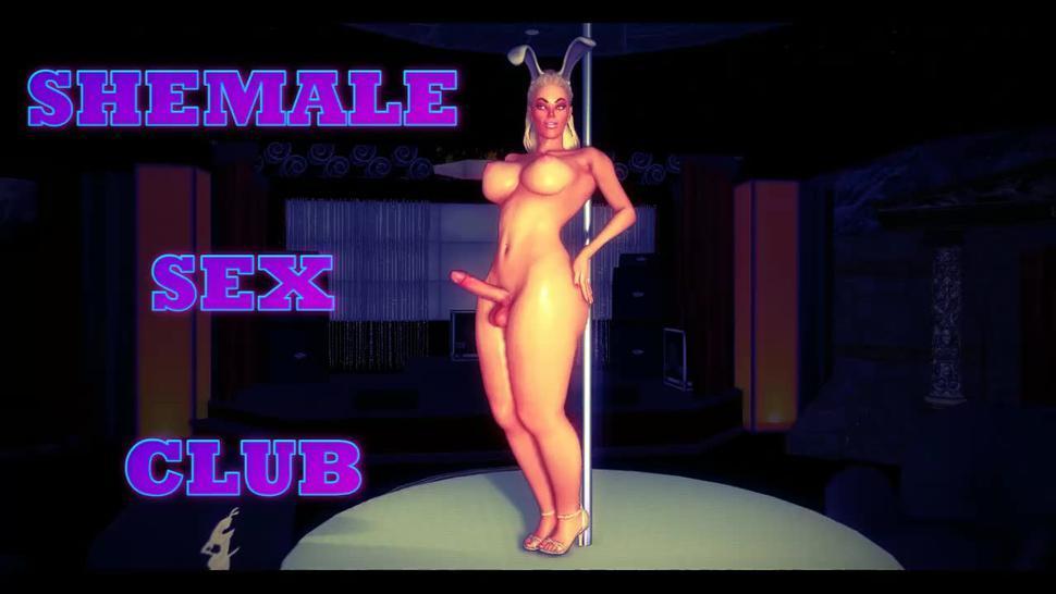 Futa Sex Club Party Dancing Rabbit (FUTA ON MALE, Futanari 3D)