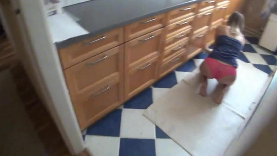 Teen Girl And Horny Boy Have Anal Sex In The Kitchen