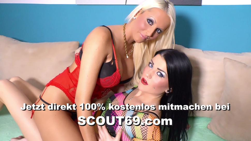 SCOUT69 - Horny Blue Eyes Girl Squirt Orgasm at real Porn Casting Sex
