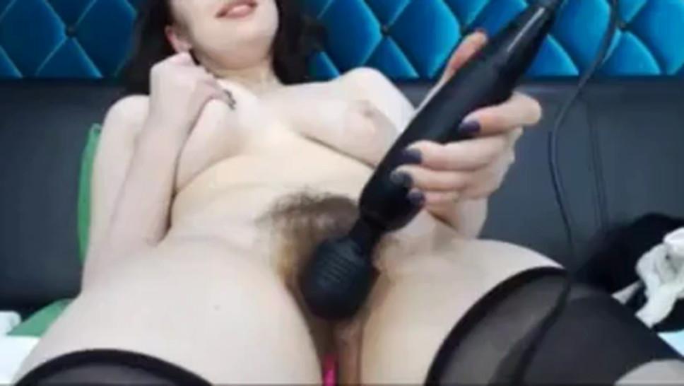 Webcam super hairy Bush  girl2