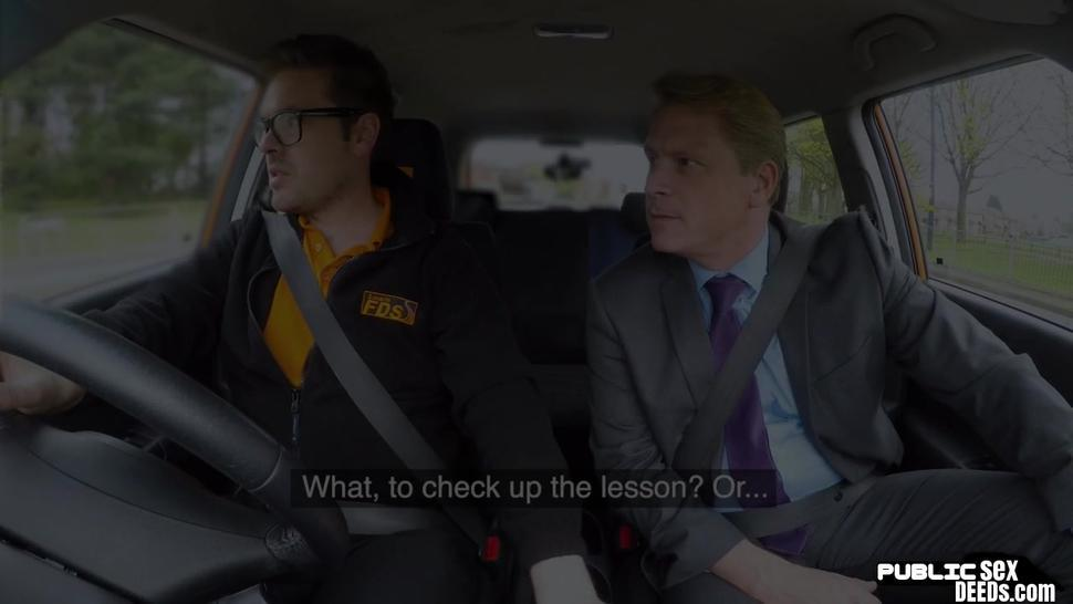 FAKEHUB - Public euro riding boss cock on front seat