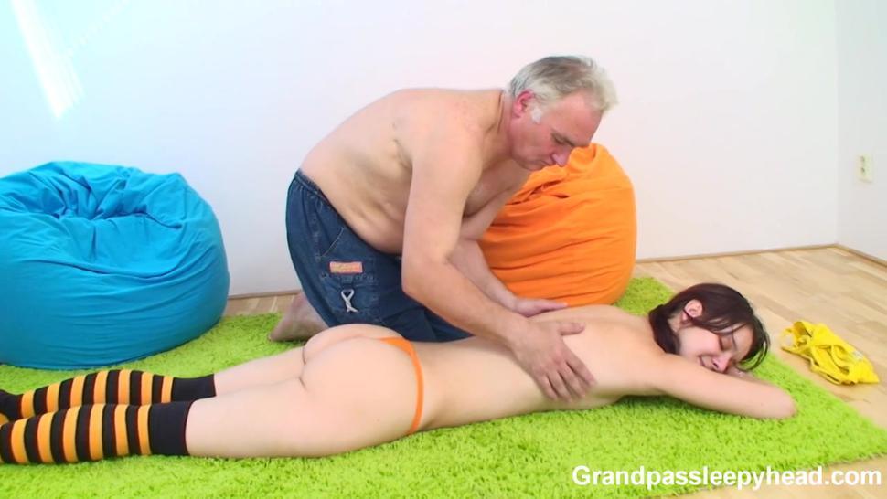 GrandpasSleepyHead Old Man Fucks Sleeping Girl