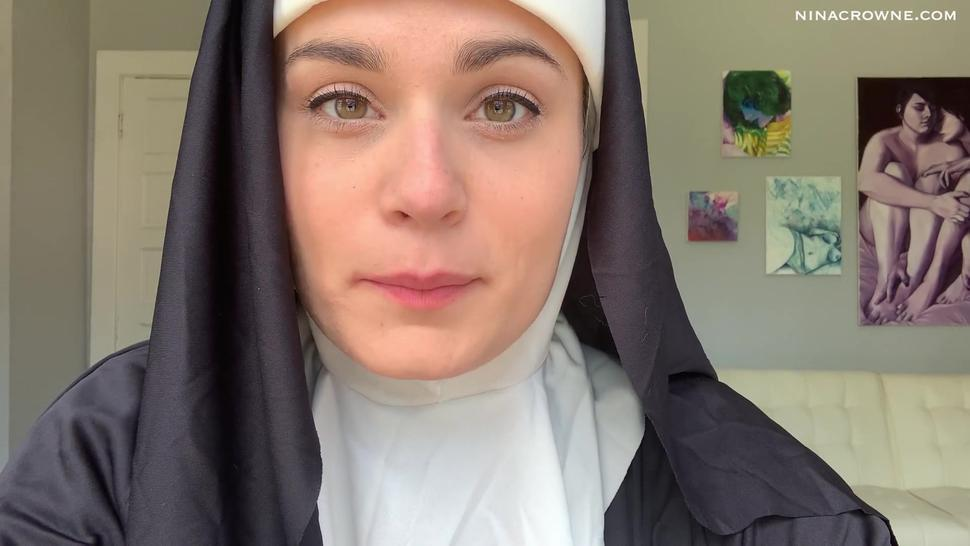 Naughty Nun Teases You in Lingerie Preview