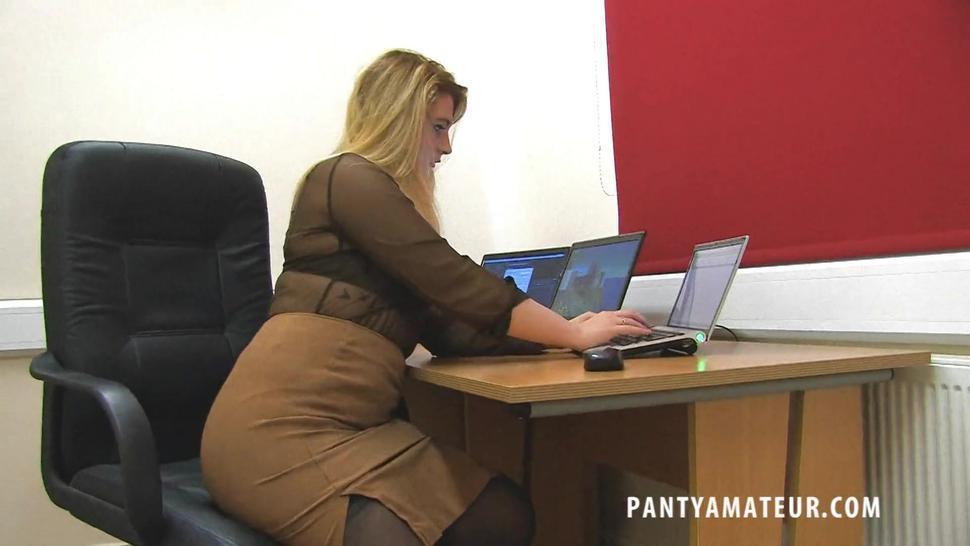 Sexy Lingerie Of Horny Secretary