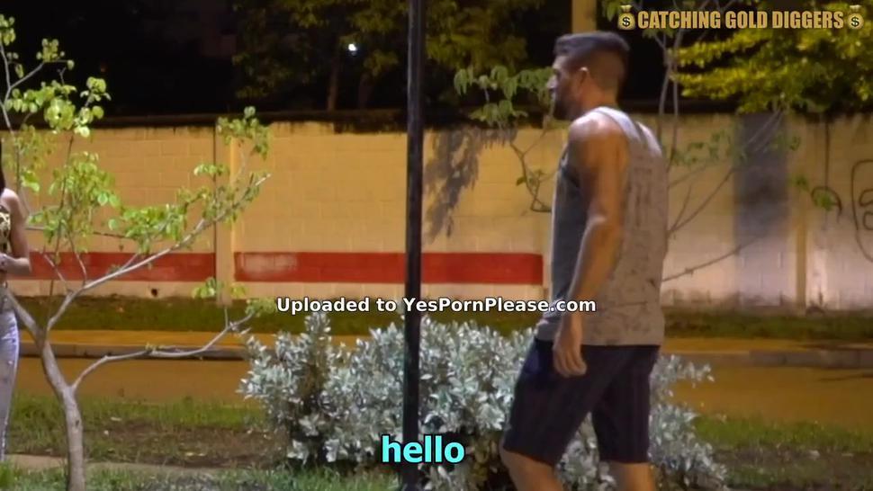 Handsome guy picks up Latina hottie for anal sex
