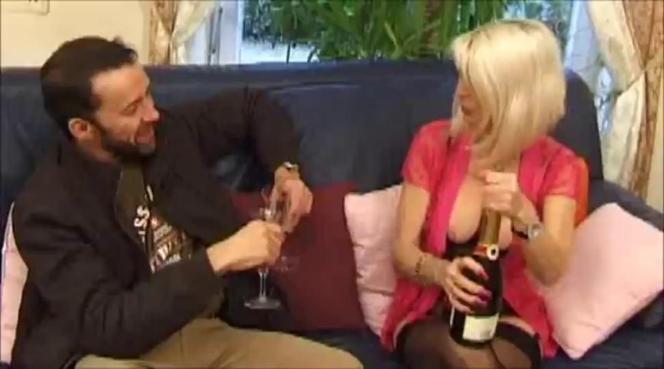 Mature Pierced Blonde In Stockings Fucks ingerie Mature Stockings