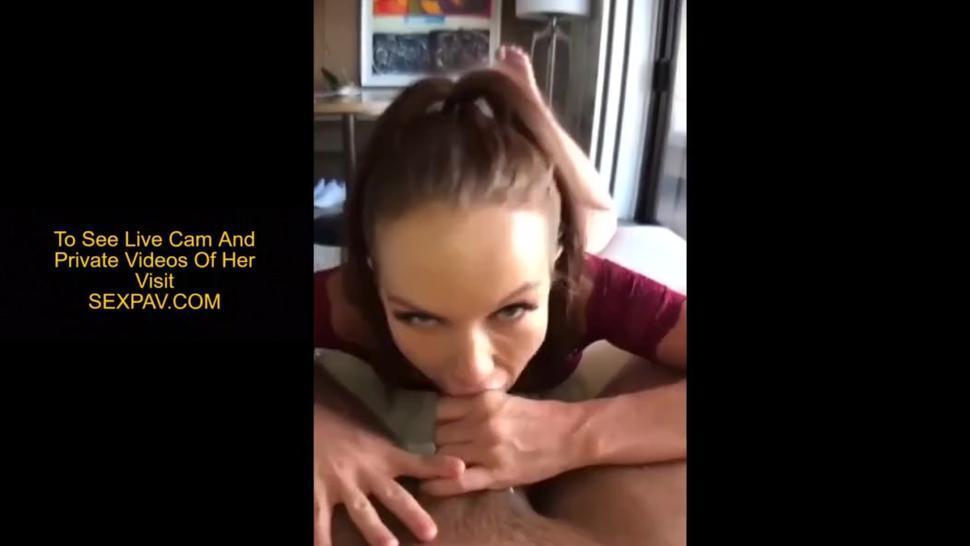 Naughty Neighbor Made Me Cum Twice During Blowjob