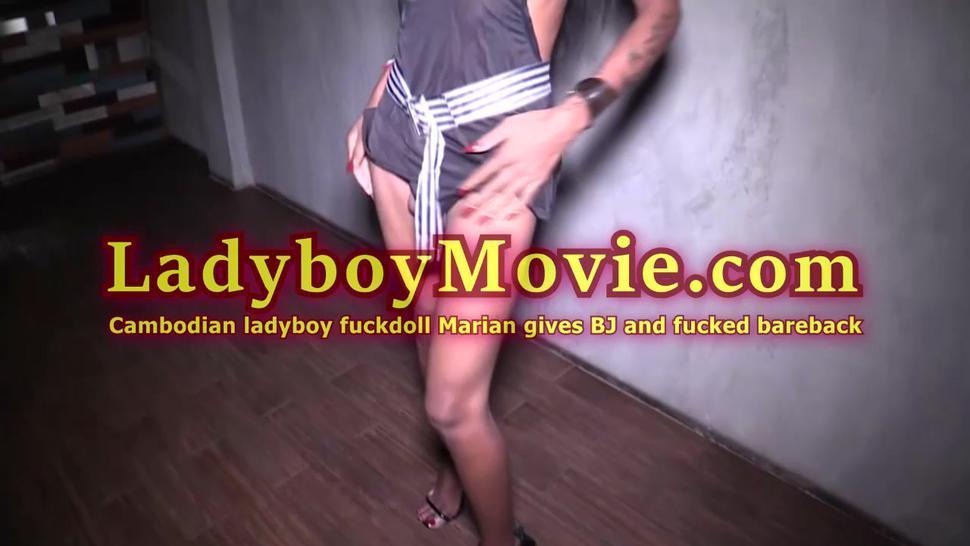 Cambodian Ladyboy Maria Blowjob And Bareback Anal