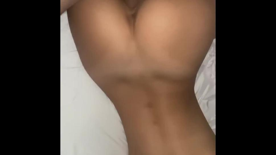 perfect ass arches her back for cock