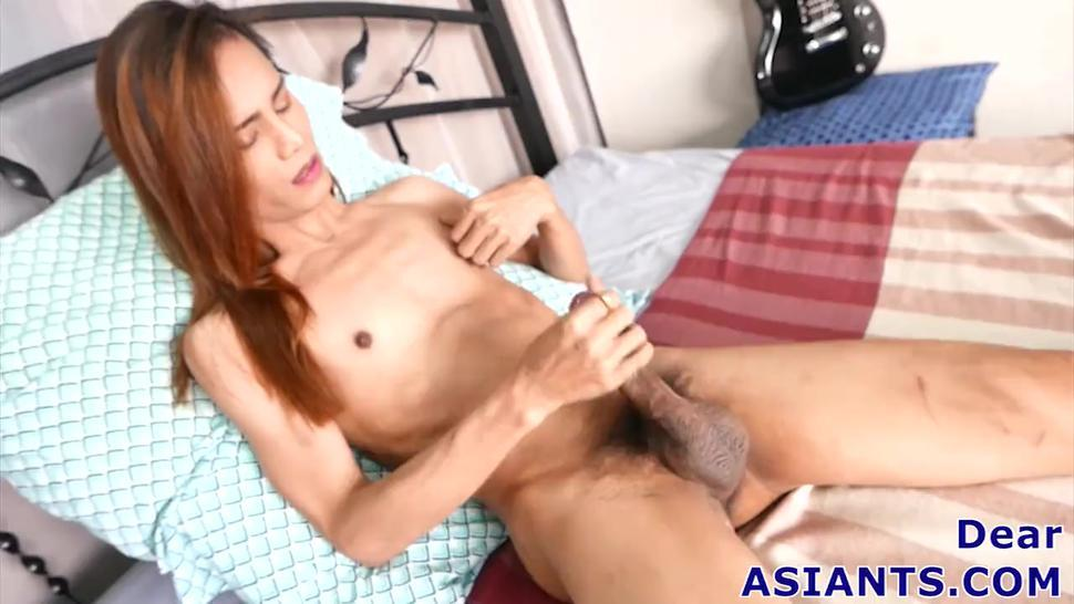 Petite And Hung Ladyboy Femboy Dear Cum