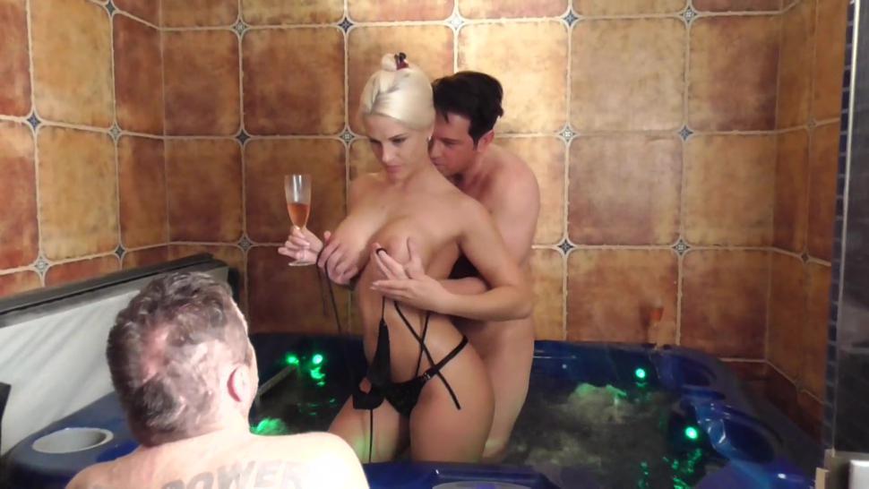 goddess empire humiliate slave quasimodo when she have fun with the humiliator in pool