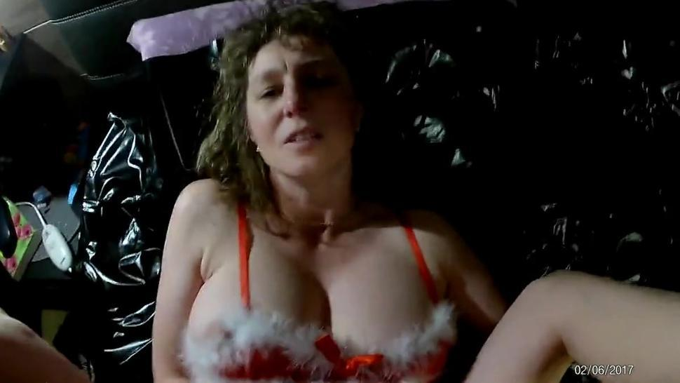 Mature Mom fucked and cum covered