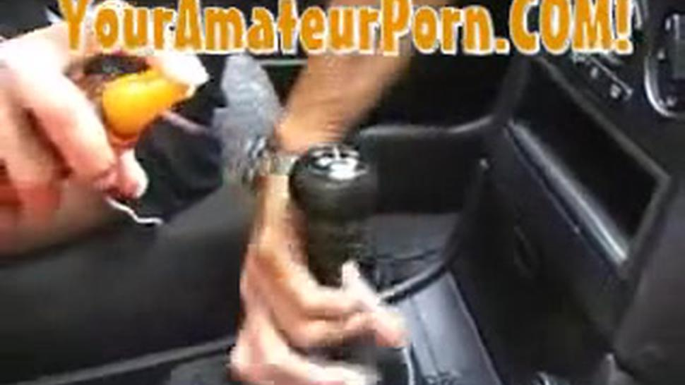 Girl Fucks Gearstick Handbrake Inc. Anal And Piss