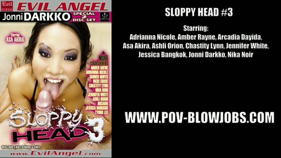 Sloppy Head - Jennifer White & Asa Akira & Jessica Bangkok & Nika Noir