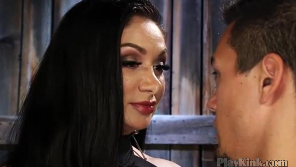 Fetish kinky dominatrix strapon fuck with slave