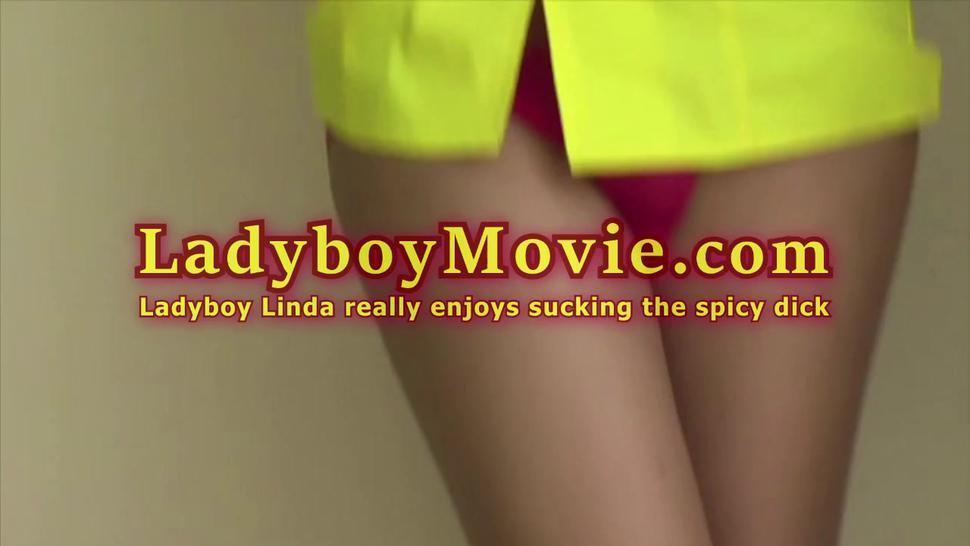 Ladyboy Linda Really Enjoys Sucking The Cock
