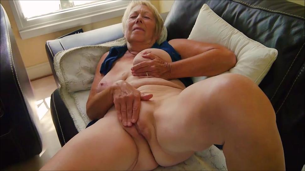 Very old grandma wild masturbation and great orgasm