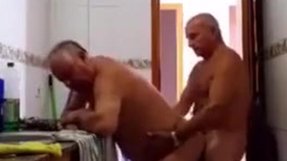 Old man fucks another old man & gets a blowjob